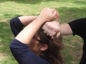 Spikey techniques for women's self-defense