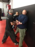 Law enforcement officers learn real life self-defense tactics with sapir tal